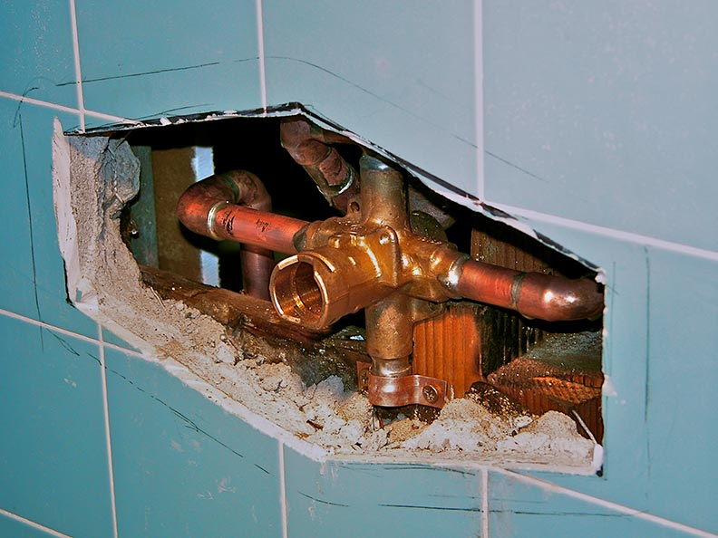 Install Of New Tub Shower Diverter Valve To Single Handle Ada Tub Shower Mixer